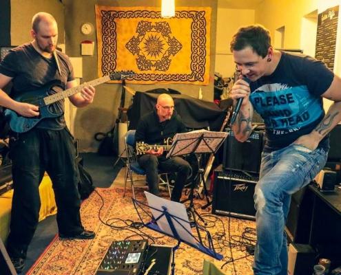 Band im Proberaum